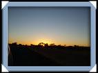 coucher de soleil au Botswana