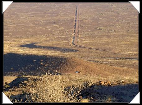 piste D3904 en Namibie