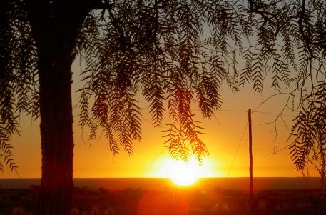 coucher de soleil namibie