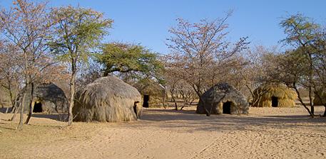 ghanzi trail blazers village san botswana