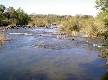 popa falls caprivi namibie