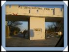 Entrée au parc par Namutoni.( etosha )