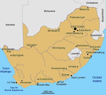 geographie de l'afrique du sud