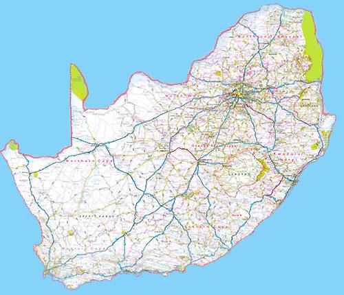 afrique du sud carte
