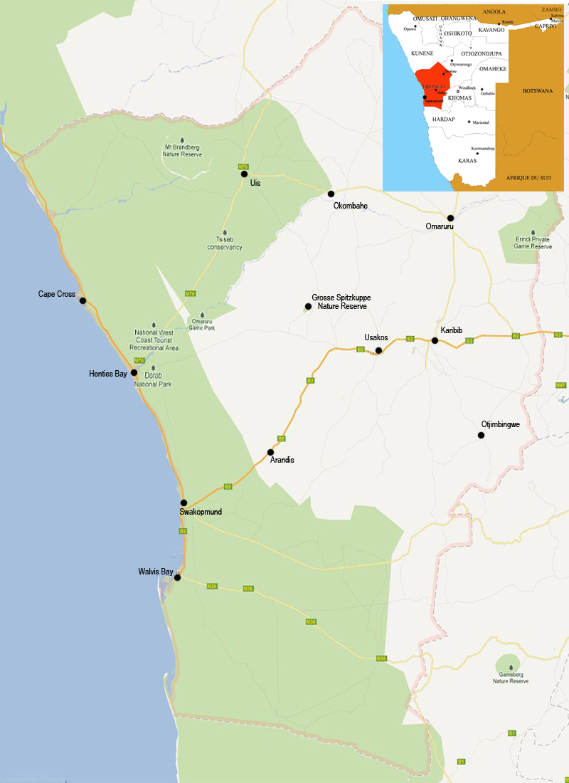 Erongo map