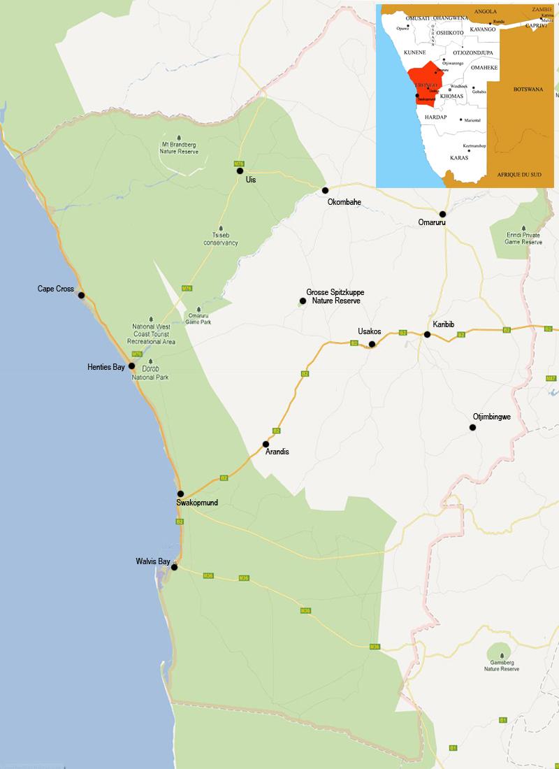 Erongo map