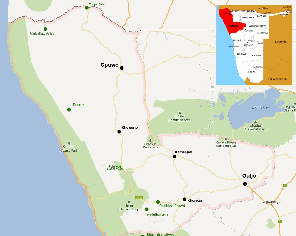 Kunene map