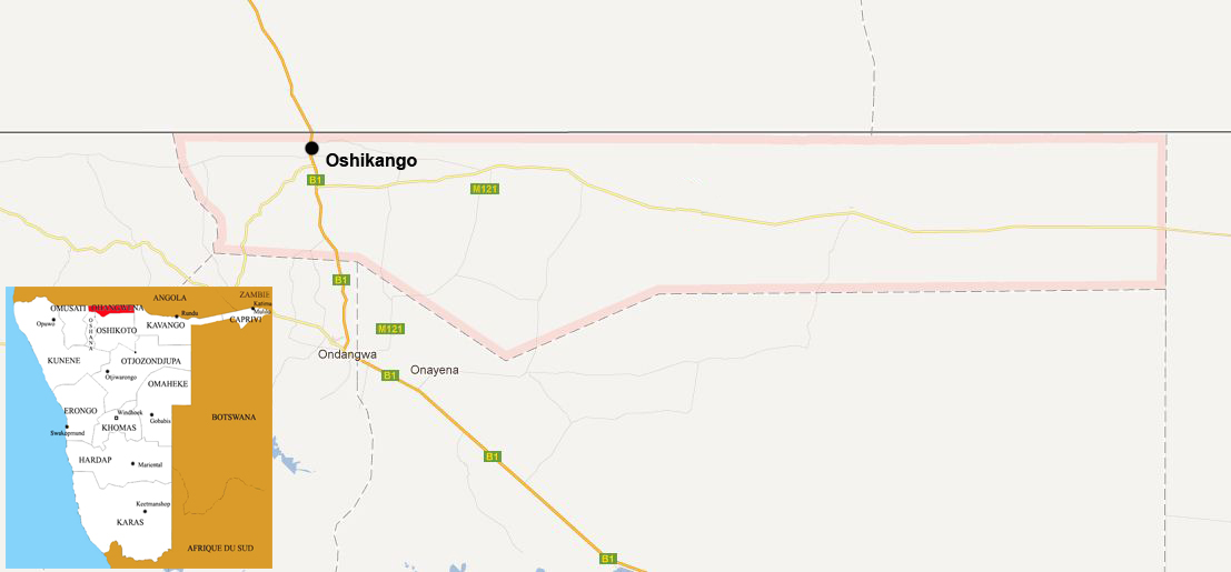 Ohangwena map