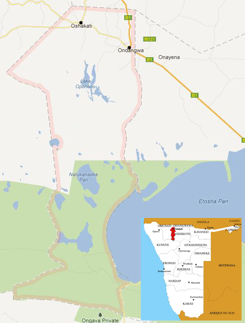 oshana map