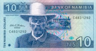 banknote namibian