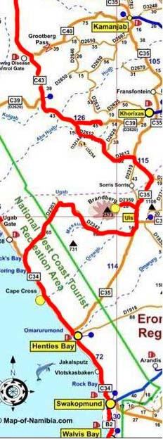 map erongo
