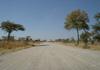 route D3507 entre la B8 et salambala en namibie