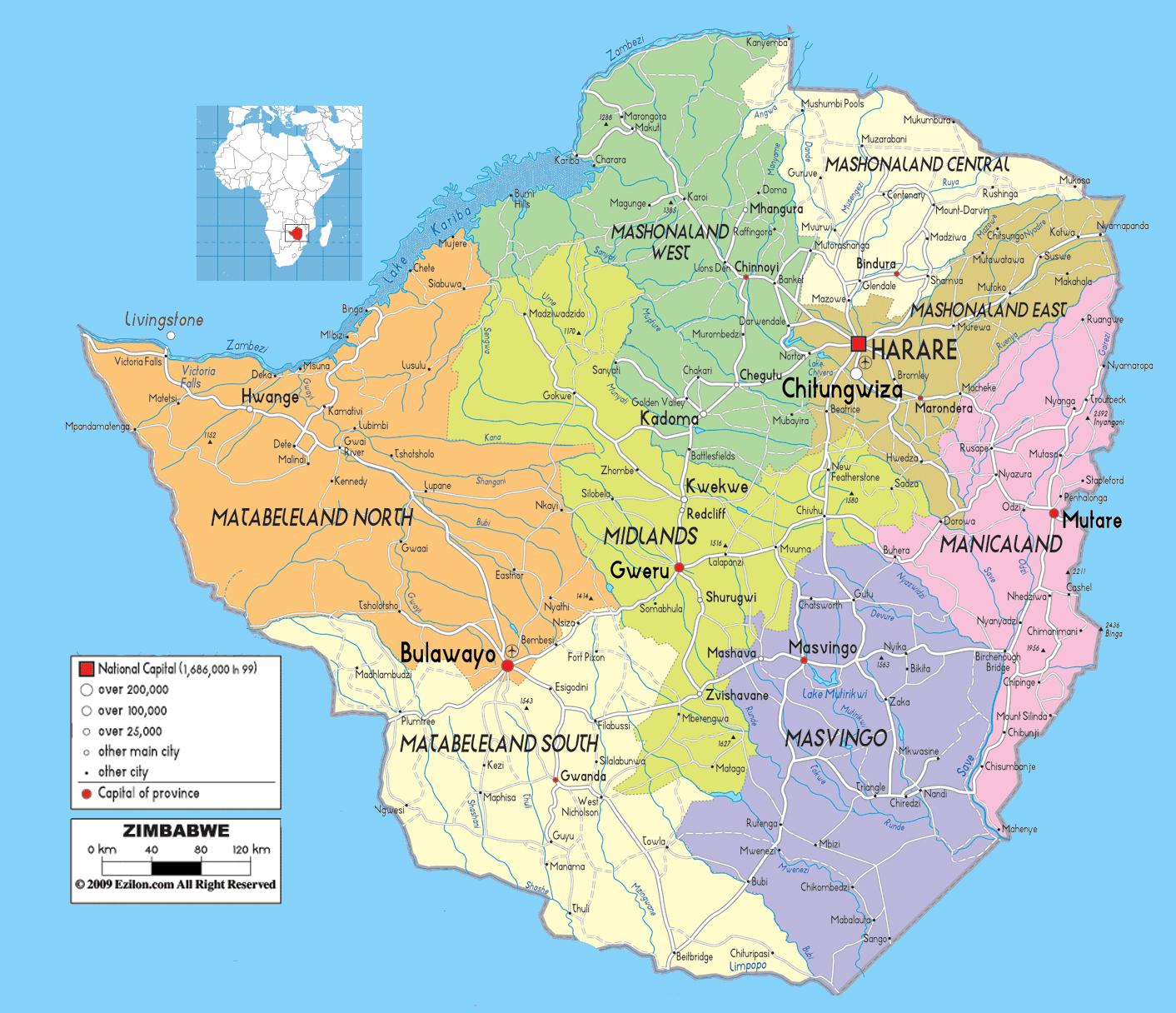 carte-geographique-du-zimbabwe