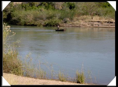 Pecheur sur le Kunene