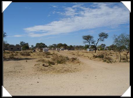 ville de la région de l'Okavango