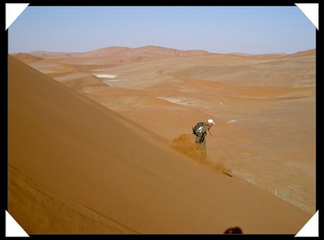 descente d'une dune