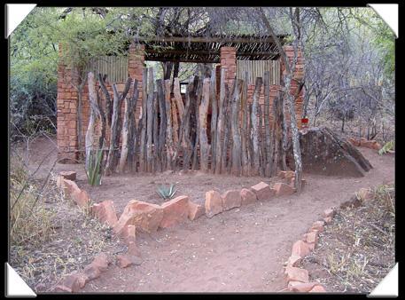 salle d'eau à la bush